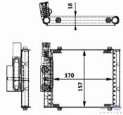 Audi Transmission Oil Cooler - Mahle Behr 4B0317021C