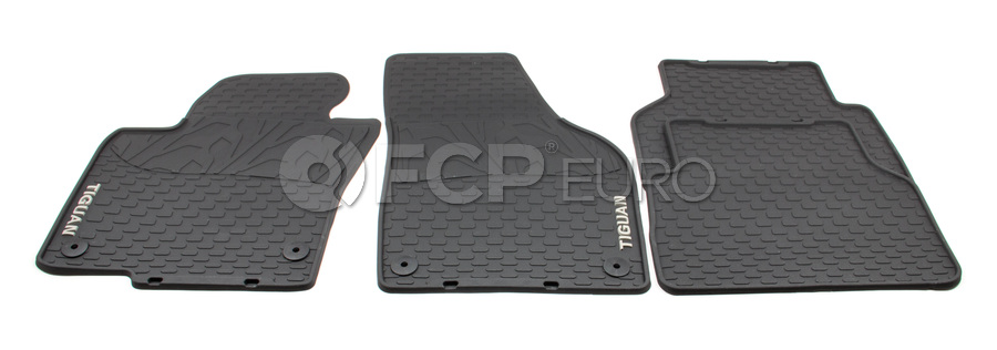 VW Floor Mat Set Rubber - Genuine VW Audi 5N1061550H041