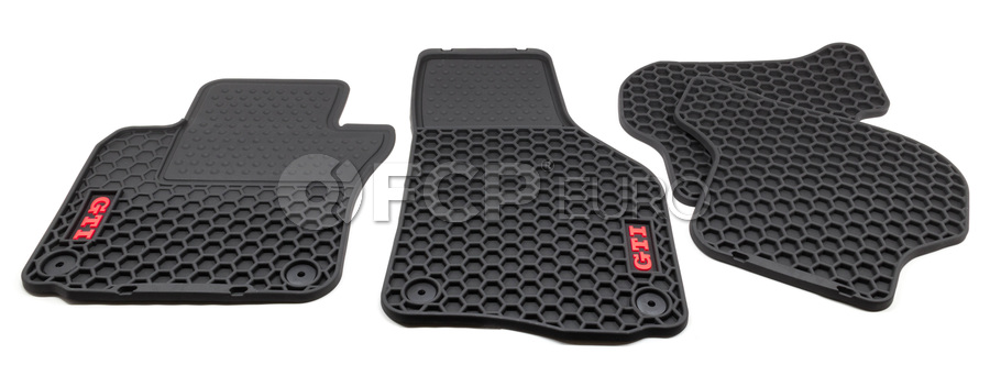 VW Floor Mat Set Rubber - Genuine VW Audi 1K1061550041