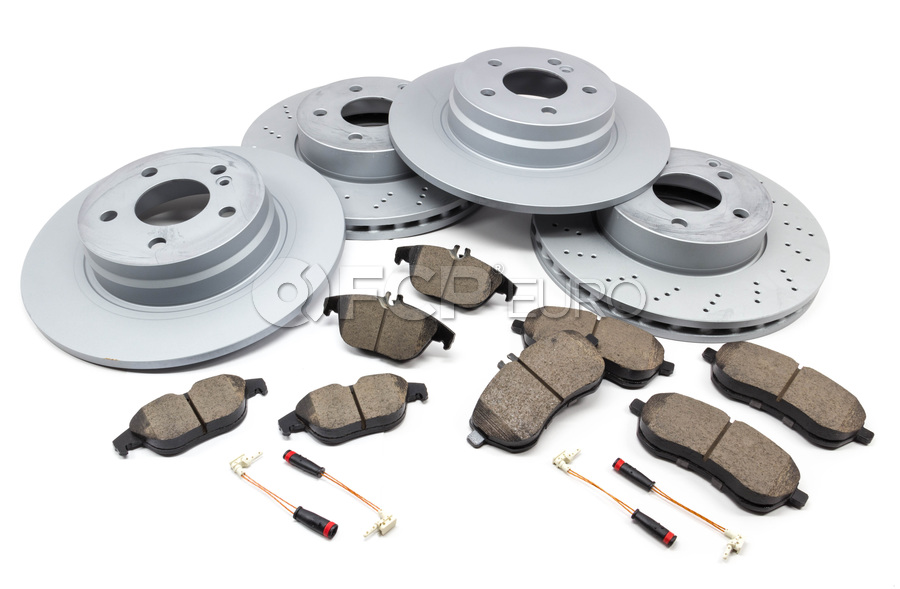 2008 2009 2010 For Mercedes-Benz C300 Front Disc Rotors and Pads w//Sport Pkg