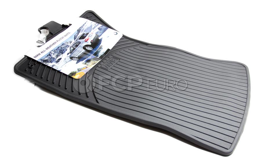 BMW Rubber Floor Mats Black - Genuine BMW 82550136372