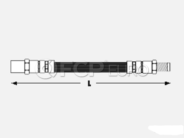 Audi Brake Hose - Meyle 443611707C