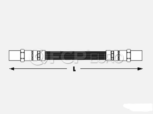 Audi Brake Hose - Meyle 443611775