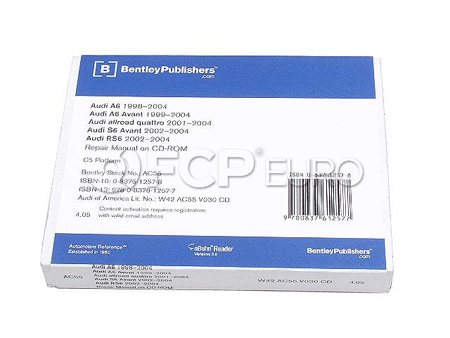 Audi CD-ROM Repair Manual - Robert Bentley AU8056055