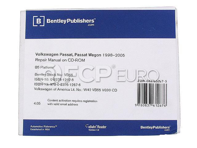 VW CD-ROM Repair Manual - Bentley VW8054005