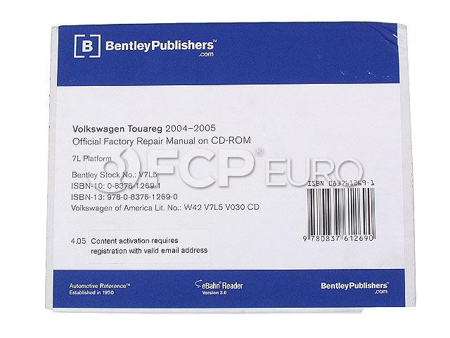 VW Repair Manual On CD-ROM - Bentley V7L5