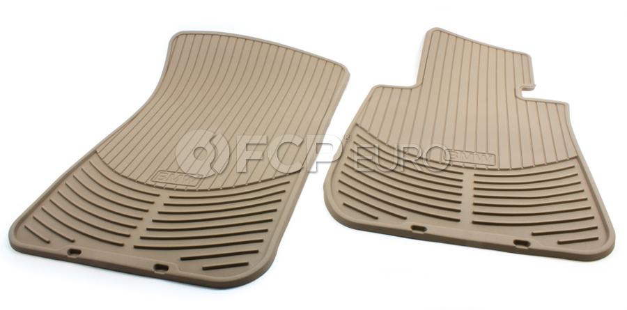 Bmw All Weather Rubber Floor Mat Set Beige Genuine Bmw