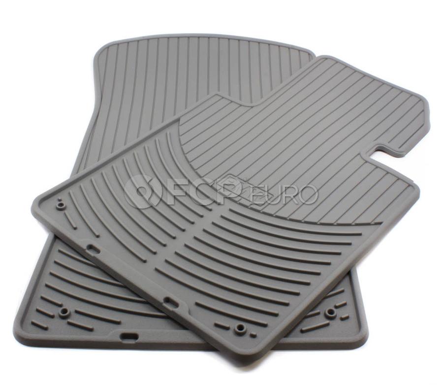 BMW Rubber Floor Mat Set Grey - Genuine BMW 82550151489