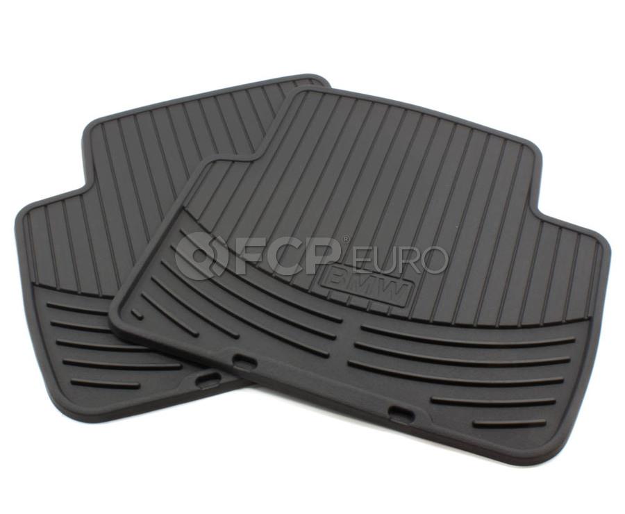 Bmw Rubber Floor Mats Black Genuine Bmw 82550136373 Fcp Euro