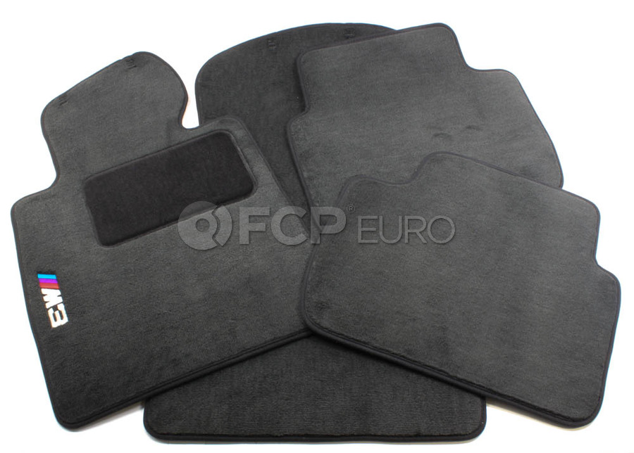 BMW Anthracite Carpeted Floor Mat Set - Genuine BMW 82110029231