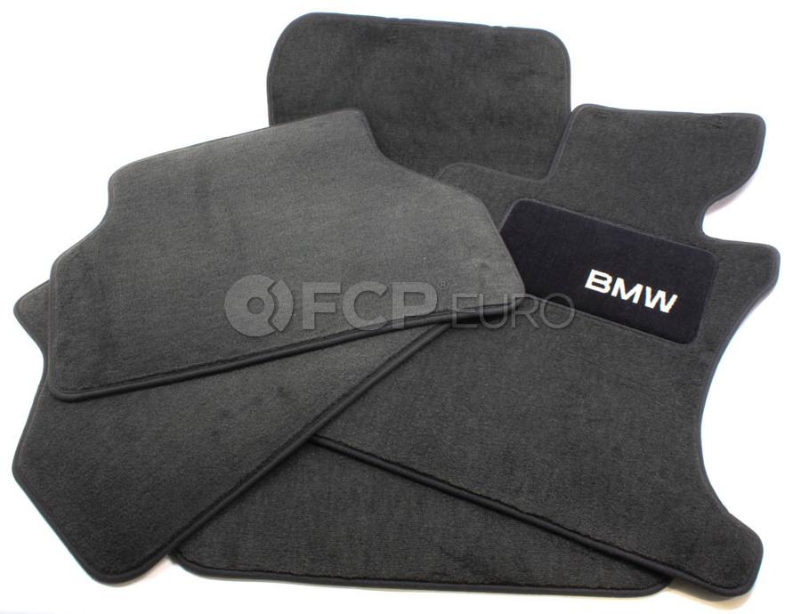 BMW Carpeted Floor Mats Set of 4 Anthracite - Genuine BMW 82110403335