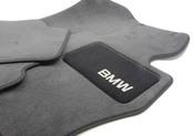 BMW Anthracite Carpeted Floor Mat Set (Set of 4) - Genuine BMW 82112293527