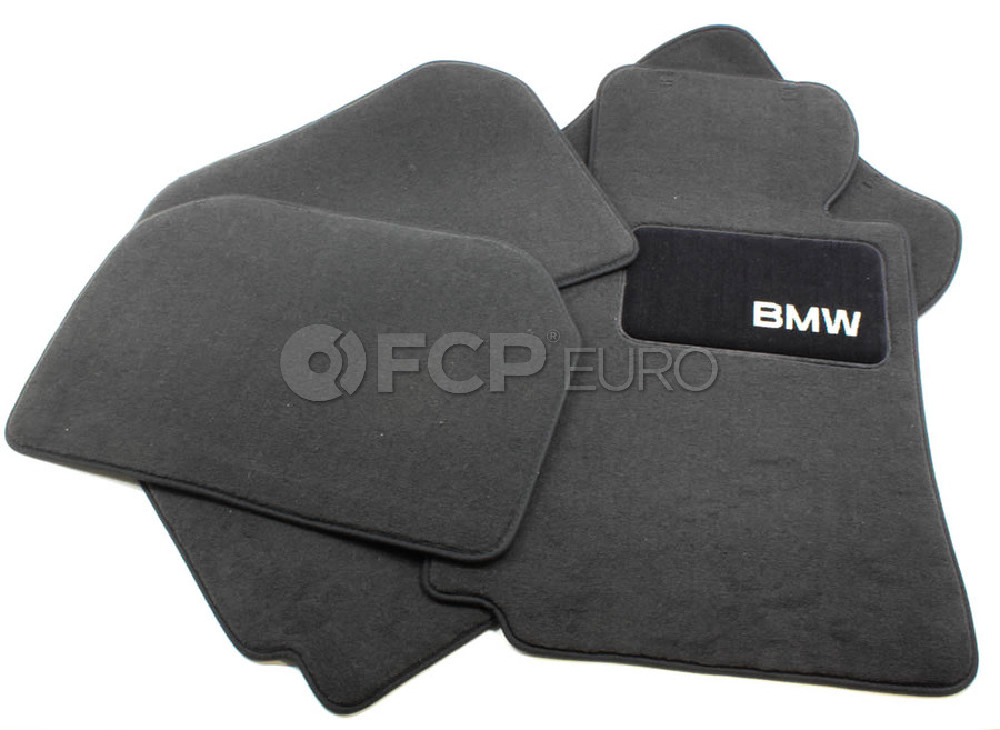 BMW Carpeted Floor Mats set of 4 Anthracite - Genuine BMW 82111469539