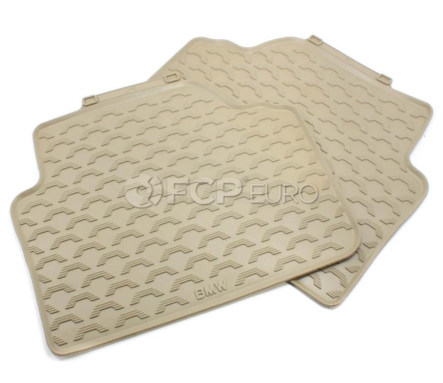 BMW Rubber Floor Mats Beige - Genuine BMW 51470427560