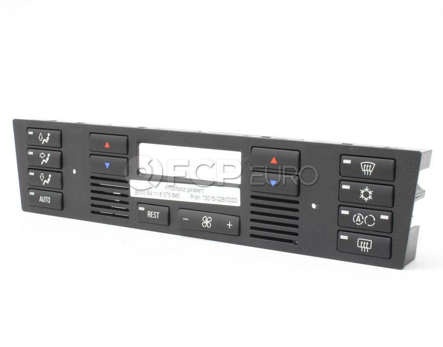 BMW Climate Control Push Button Set - Genuine BMW 64118375645