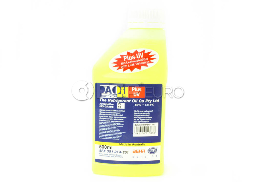 A/C Compressor Oil with UV Dye (PAO 68 AA1 500Ml) - Mahle Behr 351214201