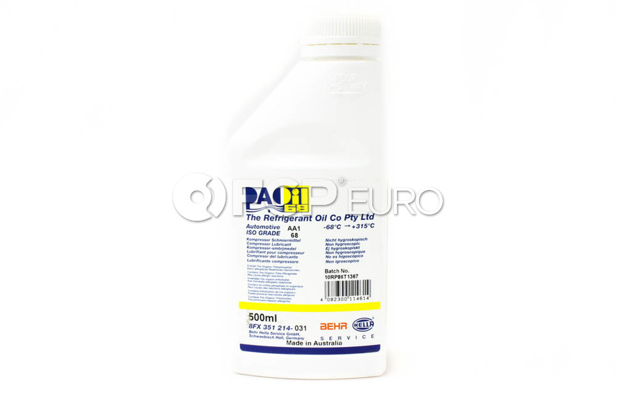 A/C Compressor Oil (PAO 68 AA1 500Ml) - Mahle Behr 351214031