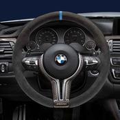 BMW M Performance Steering Wheel (Blue Center Line) - Genuine BMW 32302344147