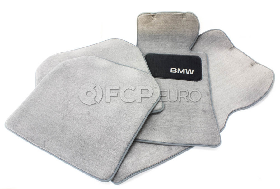 BMW Carpeted Floor Mats set of 4 Grey - Genuine BMW 82111469520