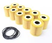 Volvo Engine Oil Filter Case of 10 - MANN 1275810
