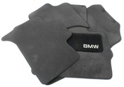 BMW Carpeted Floor Mats set of 4 Anthracite - Genuine BMW 82110008635