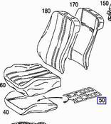 Mercedes Child Seat Occupancy Sensor (E320) - Genuine Mercedes 2108212151