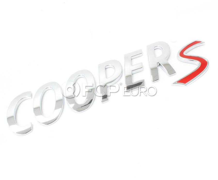 Mini Cooper Lettering (Cooper S) (Cooper Cooper Countryman Cooper Paceman) - Genuine BMW 51142755618