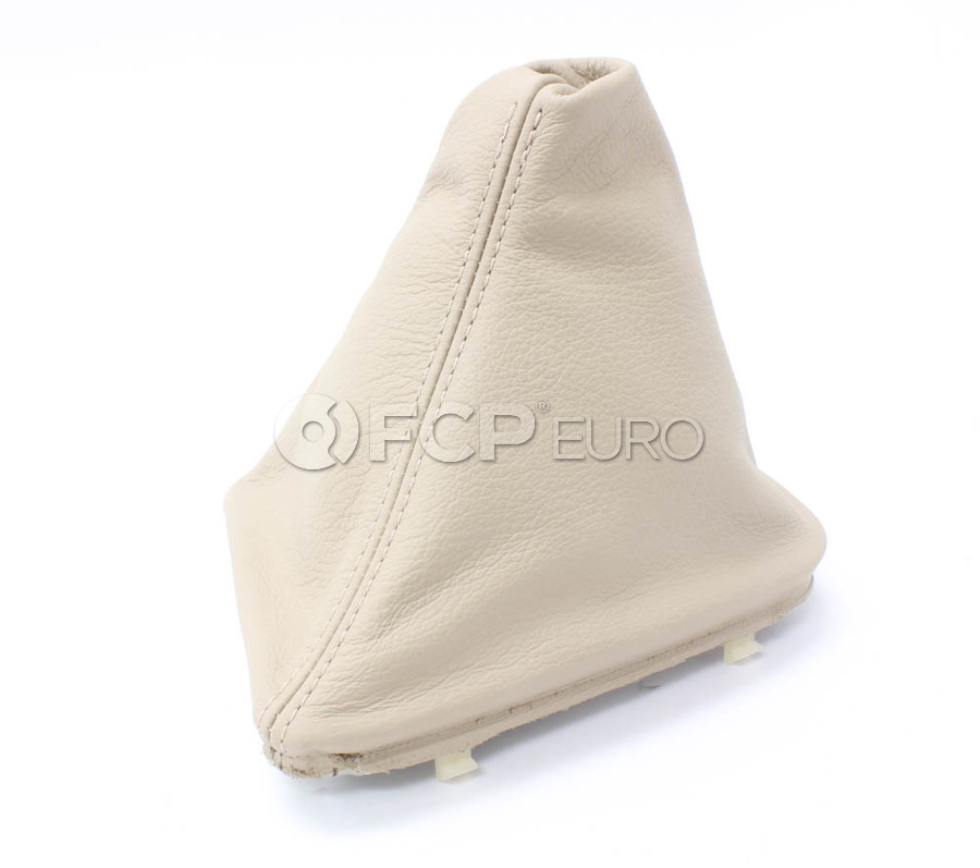 BMW Leather Gear Lever Cover (Light Beige) - Genuine BMW 25111434430
