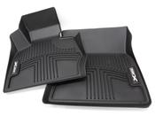 BMW All Weather Floor Liners Front - Black - Genuine BMW 82112293586