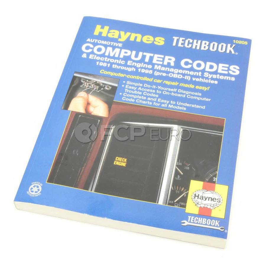Haynes Repair Manual (Automotive Computer Codes) - Haynes HAY-10205