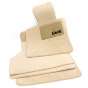 BMW Carpeted Floor Mat Set (Beige) - Genuine BMW 82110439411
