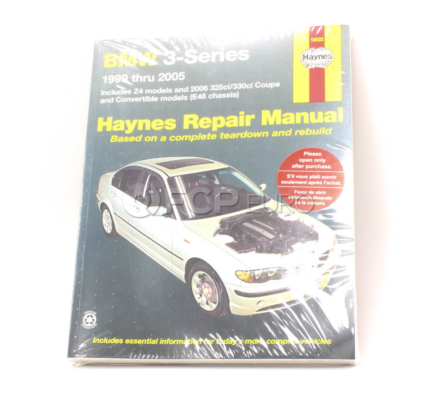 BMW Haynes Repair Manual - Haynes HAY-18022
