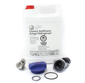 Audi Coolant Thermostat Housing Kit - Genuine Audi VW 06J121113A
