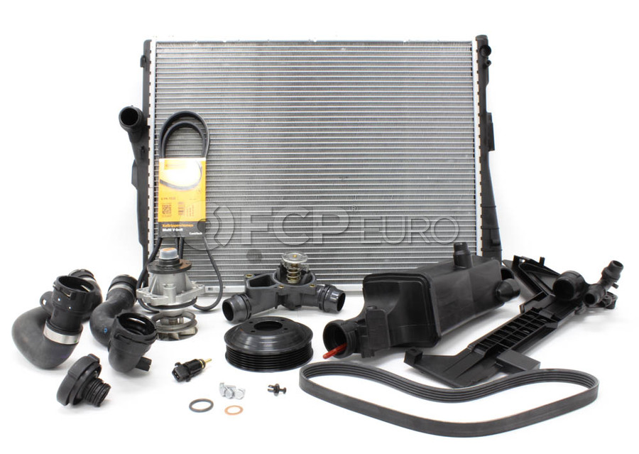 BMW E46 Cooling System Overhaul Kit - OE Supplier 376716261KT1
