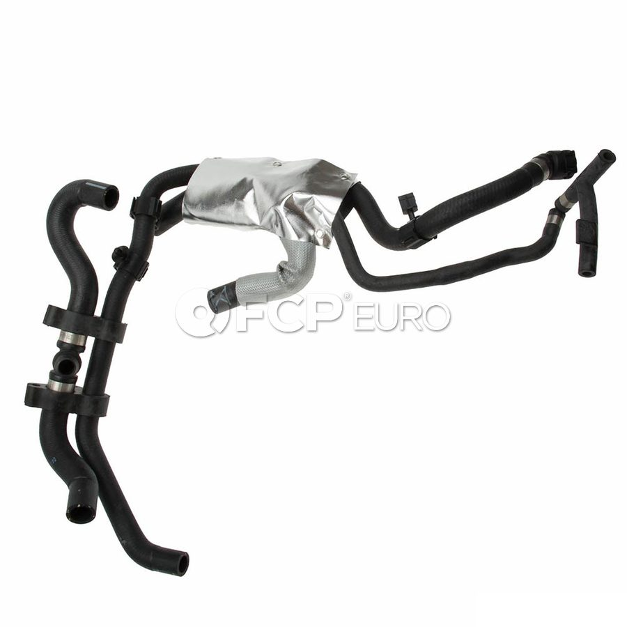 VW Engine Coolant Recovery Tank Hose Reservoir To Water Pump (Touareg) - Genuine VW Audi 7P6121156C