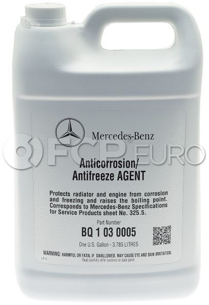 Mercedes Coolant/Antifreeze Pink (1 Gallon) - Genuine Mercedes Q1030005