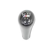 BMW Gearshift KnobLeather-M Plaque-5-Speed (Black) - Genuine BMW 25112229183