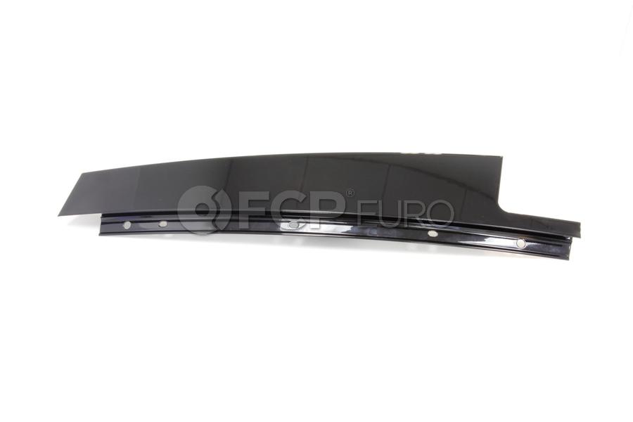 BMW Finisher Window Frame B-Pillar Rr Door (Gloss Black) - Genuine BMW 51357906910