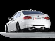 BMW Slip On Titanium Performance Exhaust With Carbon Tips - Akrapovic M-BM/T/3H-C