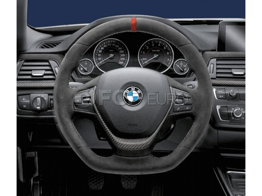 BMW M-Performance Alcantara Steering Wheel (Red Stripe) - Genuine BMW 32302230197
