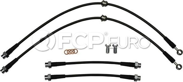 Audi VW Stainless Steel Braided Brake Line Kit