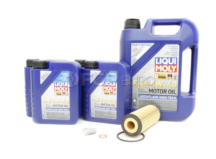 Mercedes Oil Change Kit 5W-40 - Liqui Moly 2781800009.9L.V1