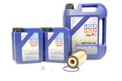 Mercedes Oil Change Kit 5W-40 - Liqui Moly 2781800009.9L.V3
