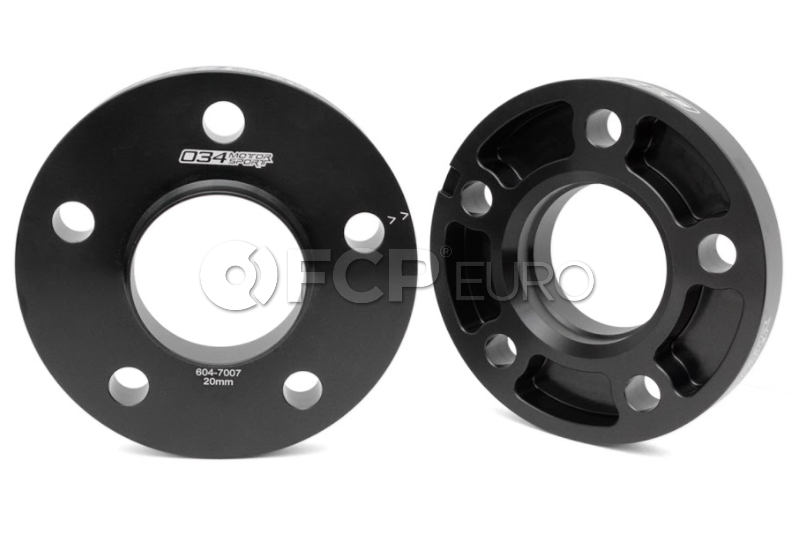 Audi 20mm Wheel Spacer Kit (Black) - 034Motorsport 0346047007