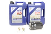 Porsche Engine Oil Change Kit (5W-40) - Liqui Moly/Hengst 524668