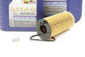 BMW 5W40 Oil Change Kit - Liqui Moly 11428575211KT2