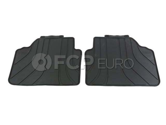 BMW Rubber Floor Mats Black - Genuine BMW 51472336599