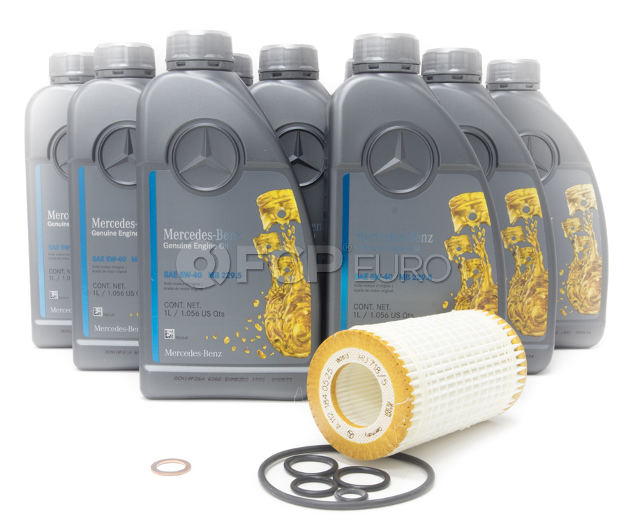 Mercedes Oil Change Kit 5W-40 - Genuine Mercedes 515651