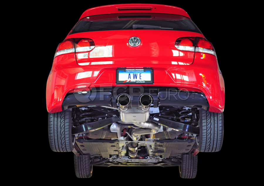 VW Track Edition Catback Exhaust System - AWE Tuning 302033010