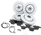 BMW Brake Kit - Zimmermann/Textar 34112283801KTFR2
